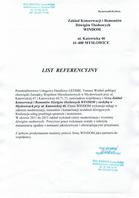 Referencja od firmy Przesiebiorstwo Usługowo Handlowe GEOMIL