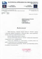 Referencja od firmy Katowicka Spółdzielnia Mieszkaniowa