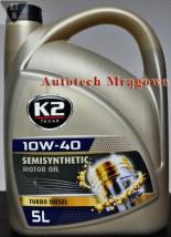 Olej silnikowy K2 TEXAR 10W-40 TURBO DIESEL 5 L - Autotech Robert Zieliński Mrągowo