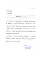 Referencja od firmy Bispol Sp. z o.o.