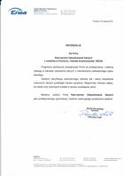 Referencja od firmy Enea Serwis Sp z o.o.