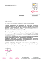 Referencja od firmy Środowiskowy Dom Samopomocy w Bielsku-białej