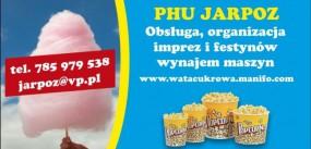 wata cukrowa popcorn obsługa wynajem maszyn - Centrum Spawania Plastiku Poznań