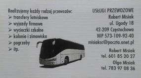 Przewozy autokarowe - Usługi Przewozowe Robert Misiak Częstochowa