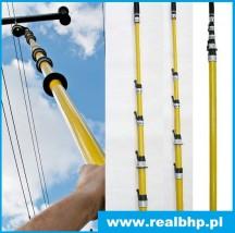 Teleskopowy drążek izolacyjny TDI-B  7,5 metra - REAL BHP - Hurtownia Artykułów BHP i Sprzętu Elektroizolacyjnego Warszawa