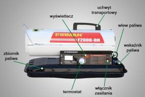 Nagrzewnica olejowa z otwartą komorą spalania FIRMAN 20kW z termostate - MARAX Hurtownia Grzewcza, Klimatyzacyjna i Ogrodnicza Kraków