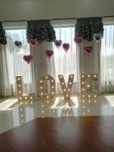 Wynajem napisu LOVE,MIŁOŚĆ - Łukasz Nowicki Holiday Organizacja Imprez Borek Stary