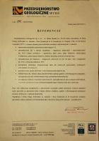Referencja od firmy Przedsiębiorstwo Geologiczne Kielce