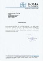 Referencja od firmy Roma Office Center
