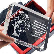Drzewko Miłości 3D ♥ na prezent dla dziewczyny - Statuetki 3D • Kryształy3D.pl • KSK Anna Sawoń Białystok