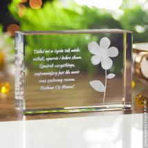 Kwiatek 3D na prezent dla babci - Statuetki 3D • Kryształy3D.pl • KSK Anna Sawoń Białystok