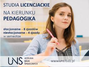 Pedagogika I stopień - Uczelnia Nauk Społecznych Łódź