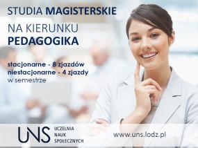 Pedagogika II stopień - Uczelnia Nauk Społecznych Łódź