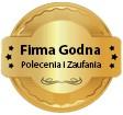 Certyfikat Firma Godna Polecenia i Zaufania - Łukasz Bodnar Consulting Gliwice