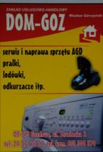 Naprawa pralek - DOM-GOZ Z.U.H. Wiesław Górczyński Gozdowo