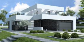 Domy szkieletowe nowoczesne z prefabrykatów - Prestige House sp. z o.o. Nowy Sącz