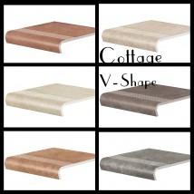 Płytki stopnica v-shape z kapinosem Cottage 30x32 - Outlet Ceramiks Radom