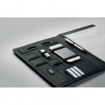Teczka A4 z ładowarką SMARTFOLDER czarny - Gratisownia.pl - Gadżety reklamowe dla firm Pilchowice