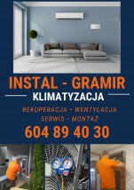Montaż,serwis klimatyzacji. Instalacje sanitarne i grzewcze. - INSTAL-GRAMIR Mirosław Grabarczyk Kostrzyn