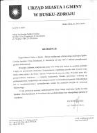 Referencja od firmy UM i G Busko - Zdrój