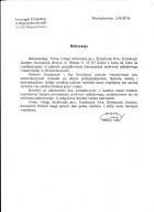 Referencja od firmy UG Wojciechowice