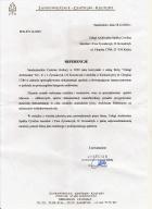 Referencja od firmy SCK Sandomierz