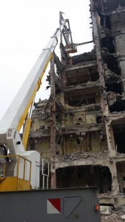 rozbiórka budynku -...