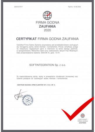 Certyfikat Firma...
