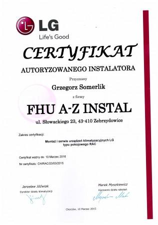 Certyfikat LG
