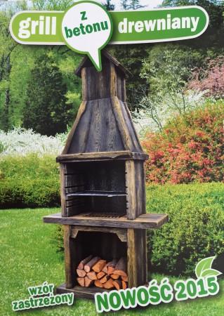 grill drewniany z...