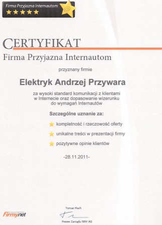 Certyfikat dobrej...