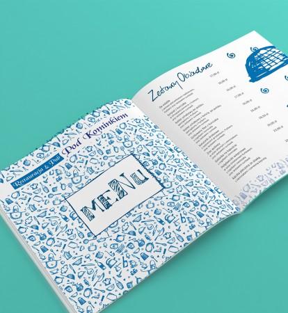 menu restauracji,