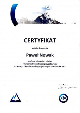 Certyfikat Everest