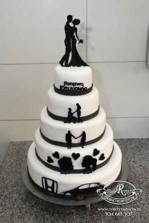biało-czarny tort...