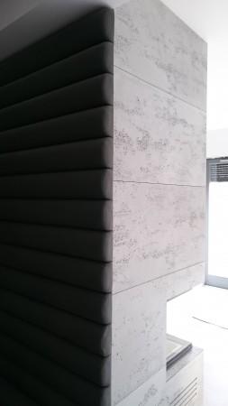 Kominek z betonem...