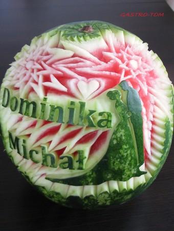 carving w owocach,...
