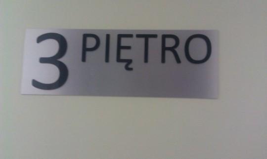 oznaczenie piętra z...