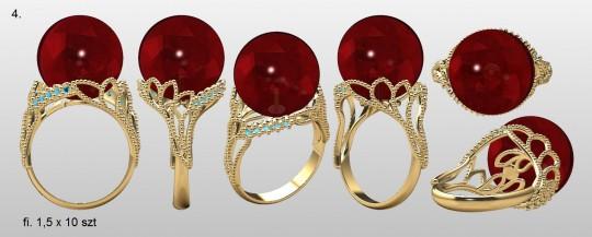 Pierścień z kulą /...