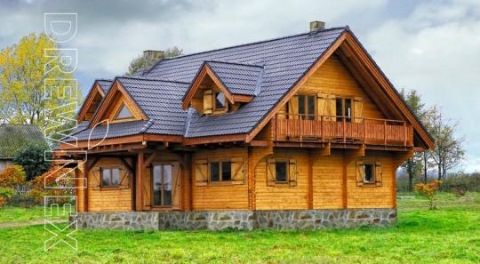 Dom drewniany z...