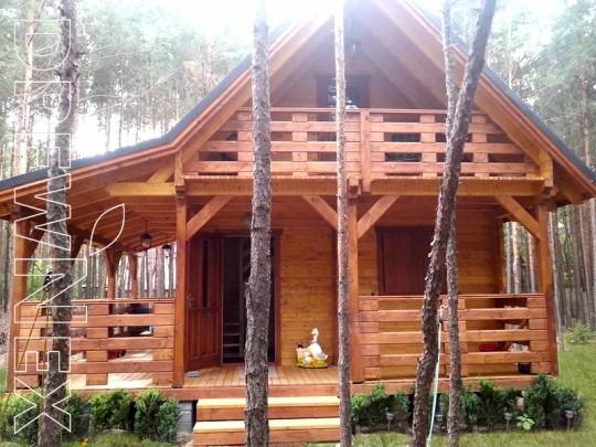 Drewniany domek...