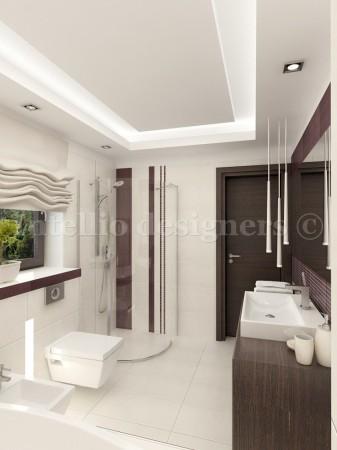 łazienka z sufitem...