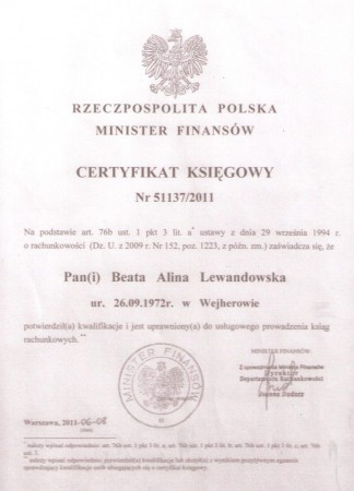 Certyfikat...