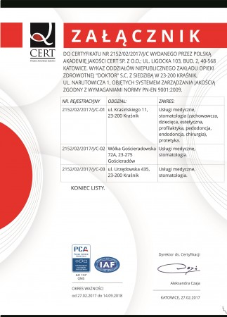 ISO 9001 wykaz...