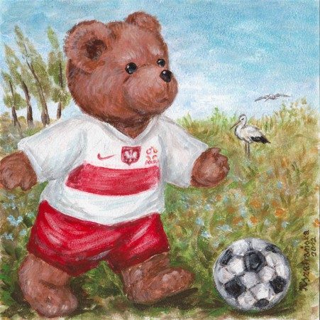 Miś piłkarz