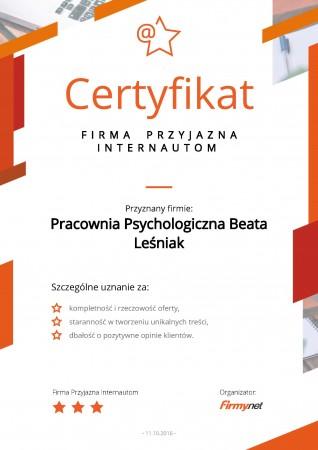 Certyfikat - Firma...