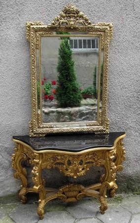 Konsola z lustrem