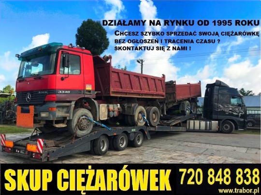 Skup ciężarówek...