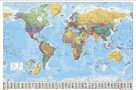 World Map - plakat
