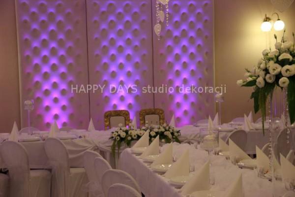 Dekoracja sali weselnej Łódź i Piotrków Trybunalski – Happy Days Studio dekoracji