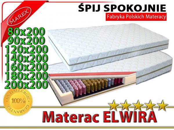 Genialny MATERAC SPRĘŻYNOWY 9 STREFOWY Elwira Exclusive Series PRO ELWIRA EC17